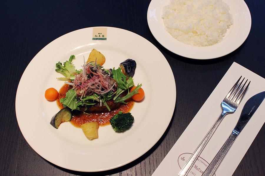日比谷松本楼 ハンバーグステーキ~おろし和風ソース・春野菜に囲まれて~