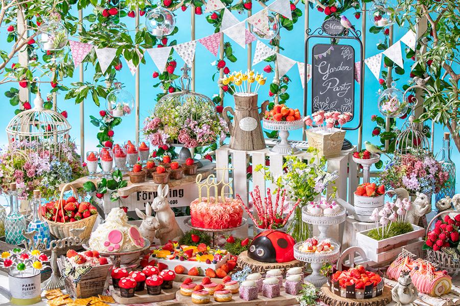 「いちごに恋するガーデンパーティー」 ~ストロベリーデザートブッフェ~お花畑でつかまえて!