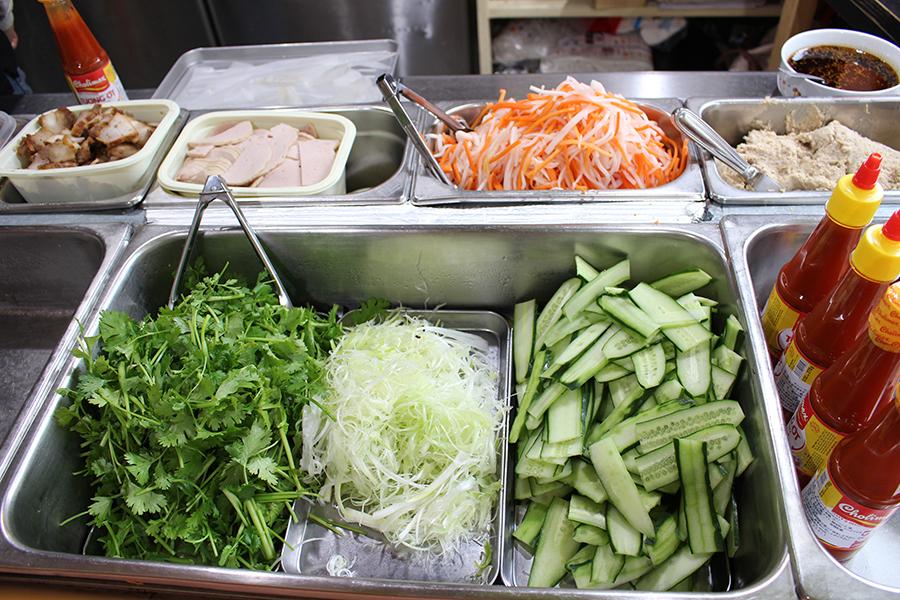 バインミーシンチャオ 野菜