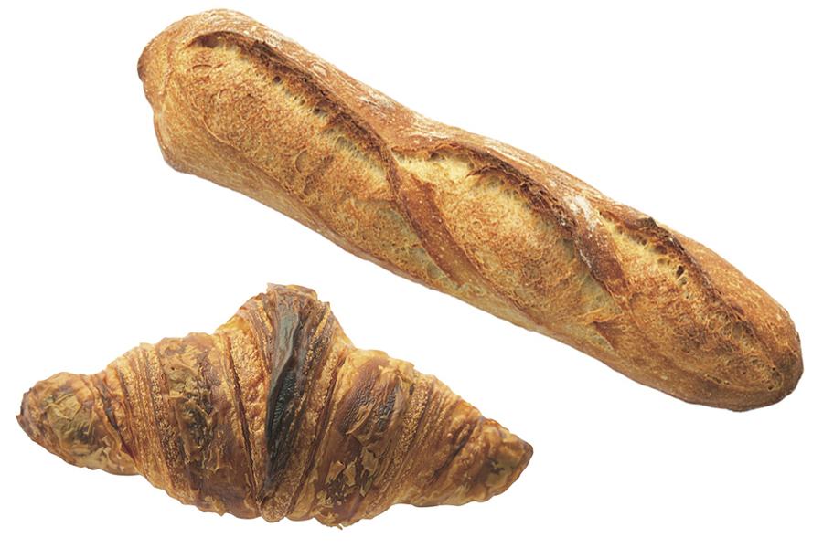 カタネベーカリー 長時間発酵のフランスパン、 クロワッサン