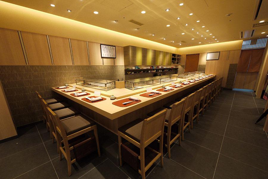 築地寿司清 渋谷店店内