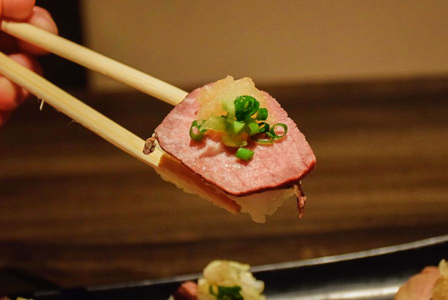 雫no庭 ローストビーフ寿司