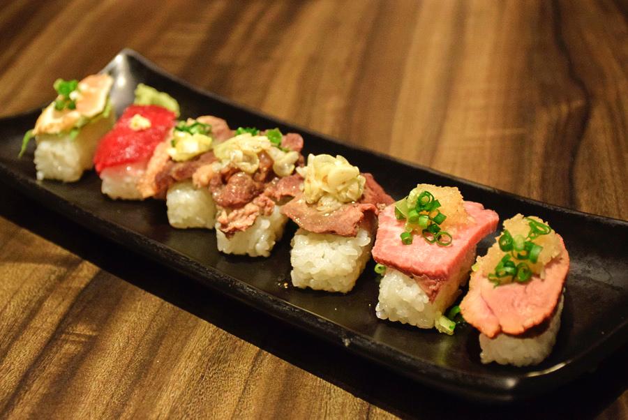 雫no庭 肉の寿司