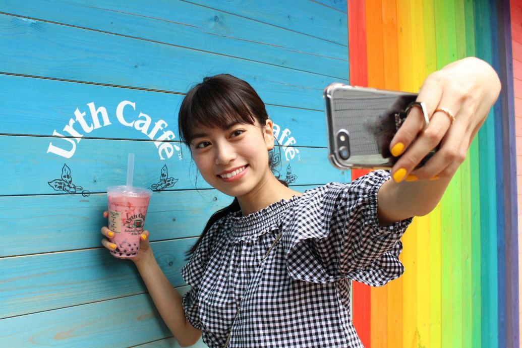 Urth caffe 表参道セルフィー