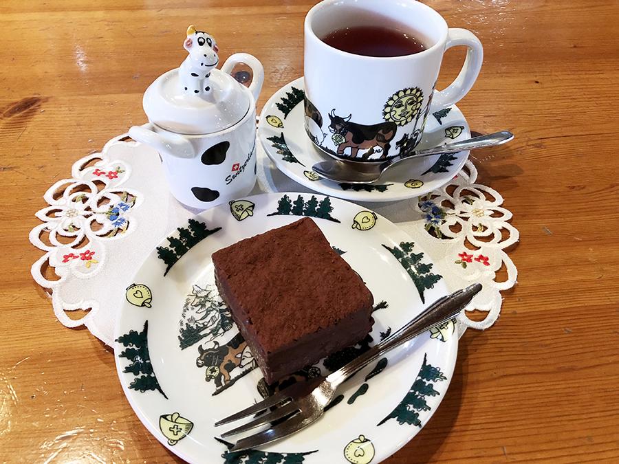 スイス風ログハウスのカフェ シャレー スイス ミニ_ガトーショコラ