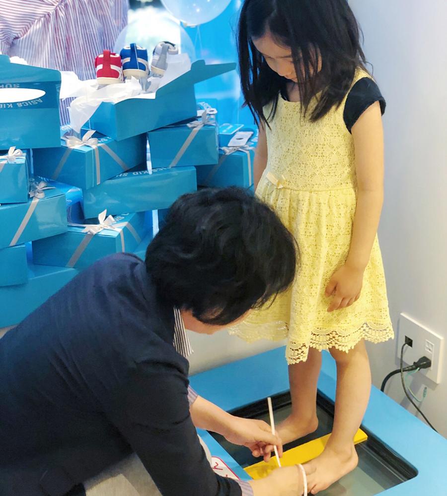 ASICS KIDS GINZA_計測