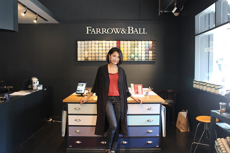 「Farrow&Ball」のショールーム