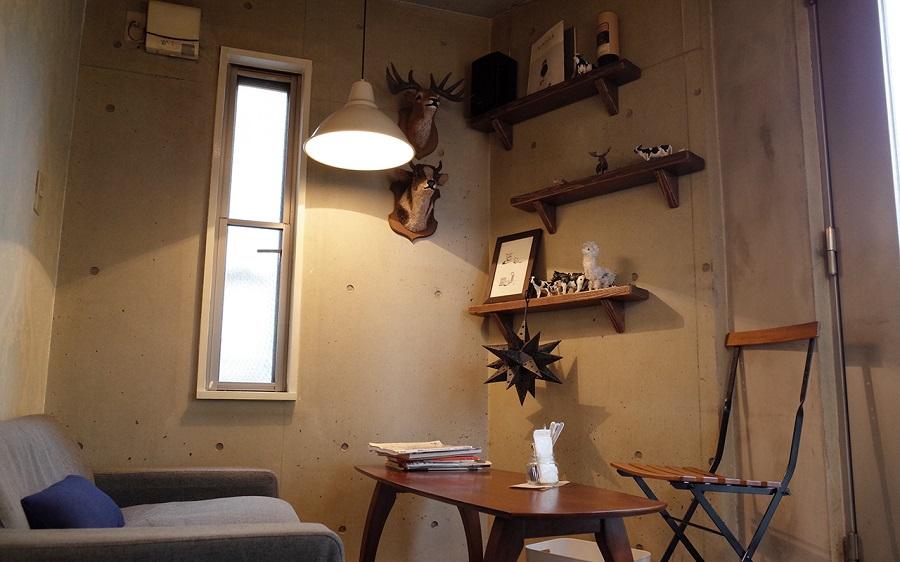 cafe THE SUN LIVES HERE 内観