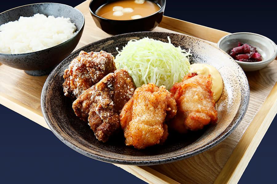「から揚げ定食」(480円~/税抜)