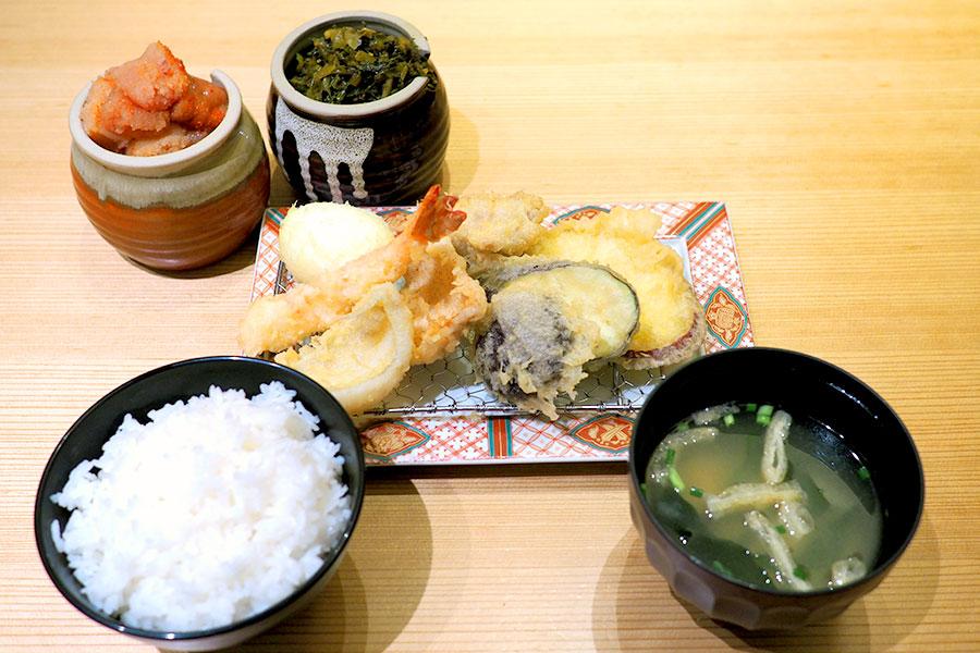 博多天ぷら やまみ 「やまみ定食」(1,200円)