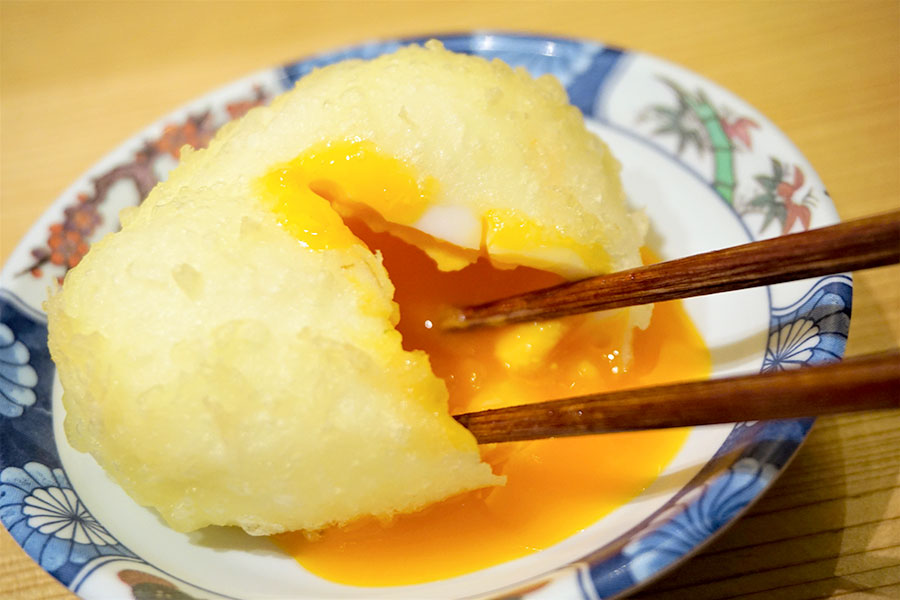 博多天ぷら やまみ 半熟の黄身