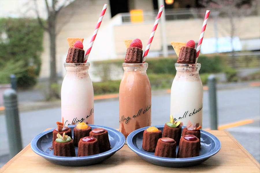 HI-CACAO CHOCOLATE STAND 「チョコレートシェイククーラー」(各800円/税別)