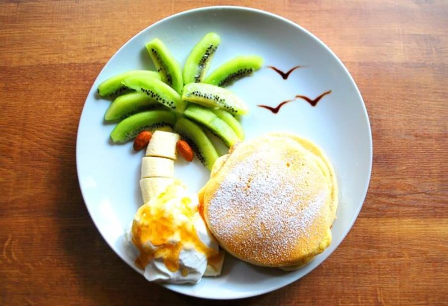 福カフェ 「アイランドココパンケーキ」