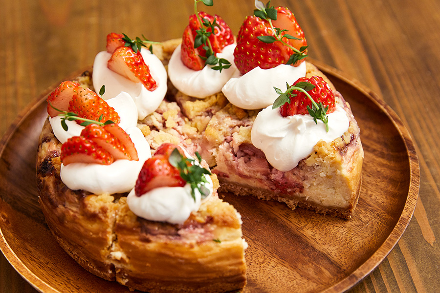 SOROR 「いちごのチーズケーキ」(1ピース・600円)