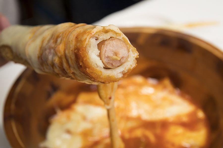 GOGOタッカルビチーズマニマニ_チーズドッグ