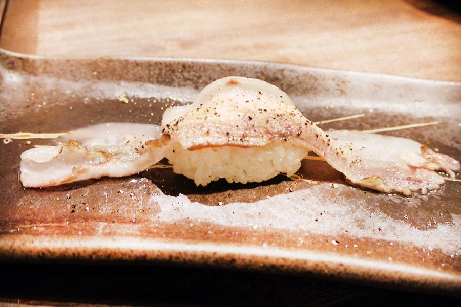 上野 肉寿司 イベリコ豚