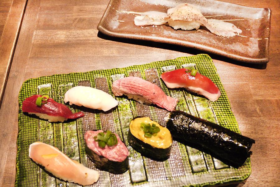 上野 肉寿司 食べ放題9品