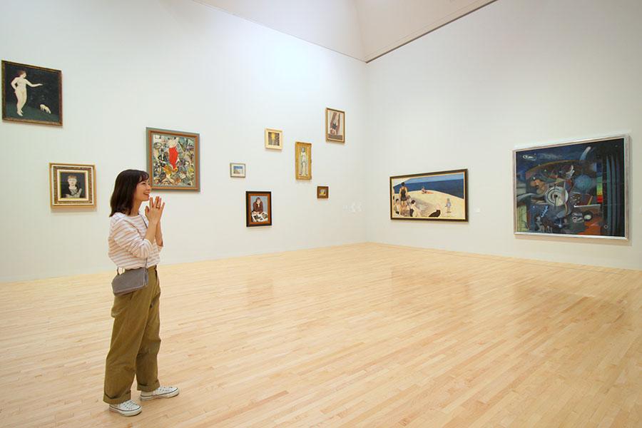東京都現代美術館 中原實の作品をまとめて展示しているスペース