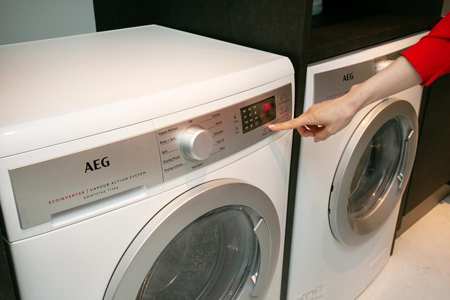 AEGショールーム洗濯乾燥機