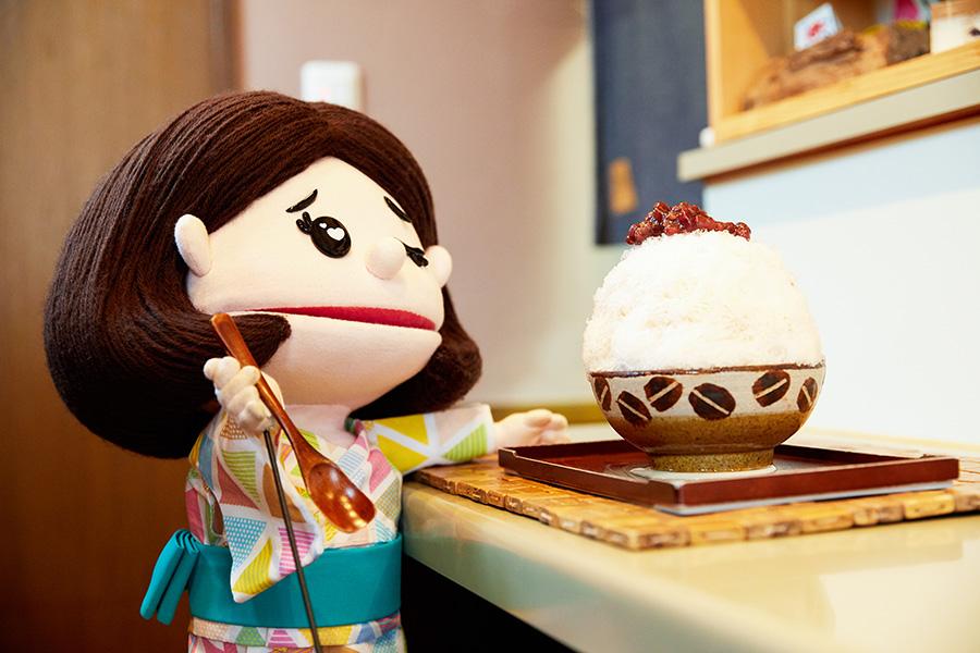 氷舎mamatoko 「お醤油黒糖みるくにあずき」