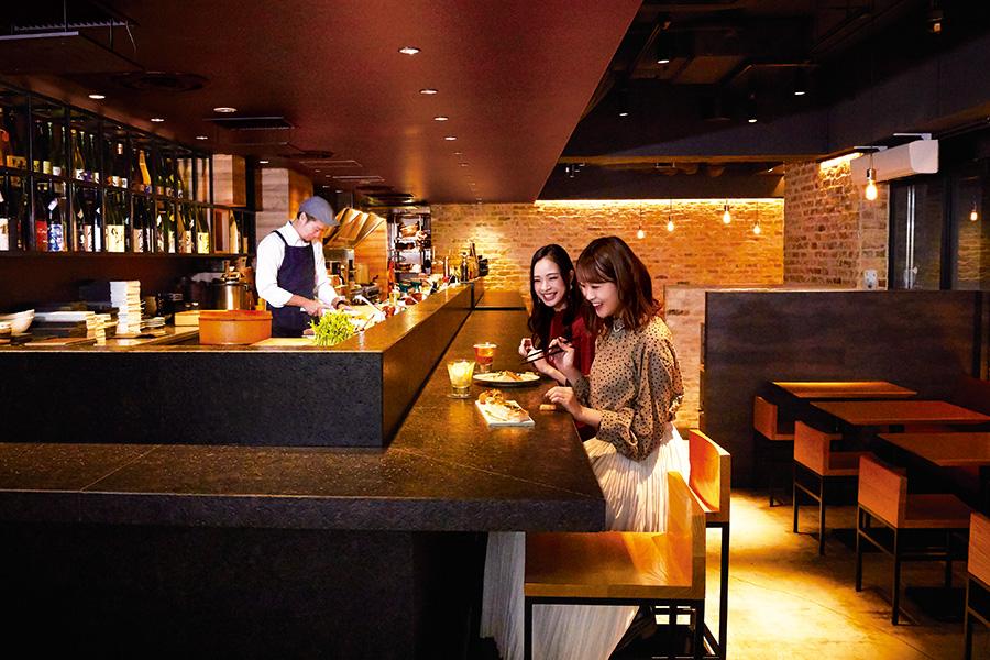 KINKA sushi bar izakaya 渋谷 店内