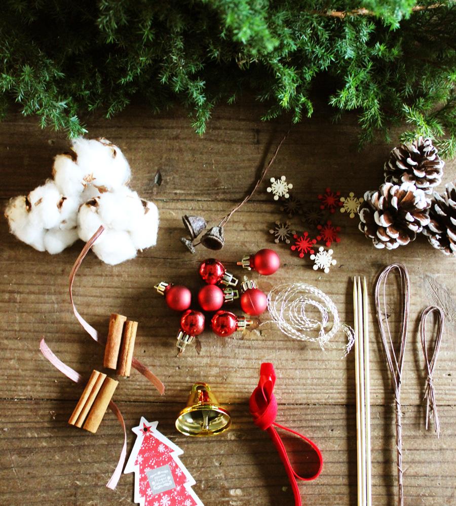 クリスマスツリーの材料