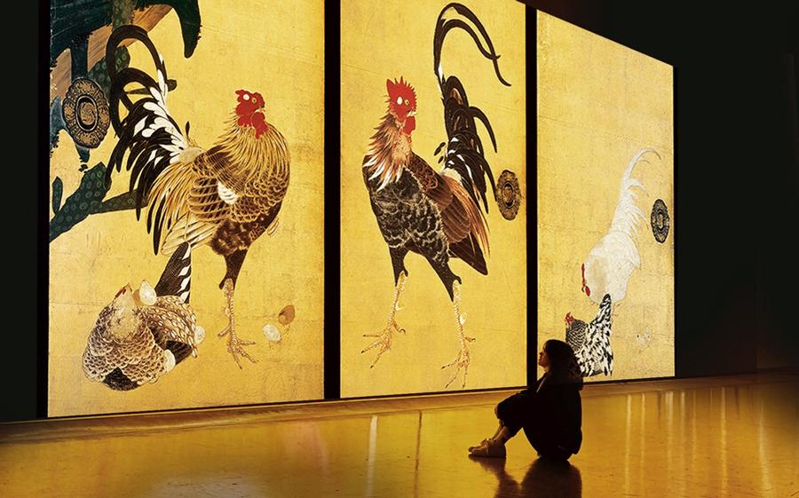 「巨大映像で迫る五大絵師」−北斎・広重・宗達・光琳・若冲の世界−