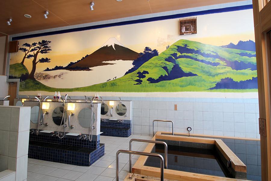 御谷湯 壁の富士山