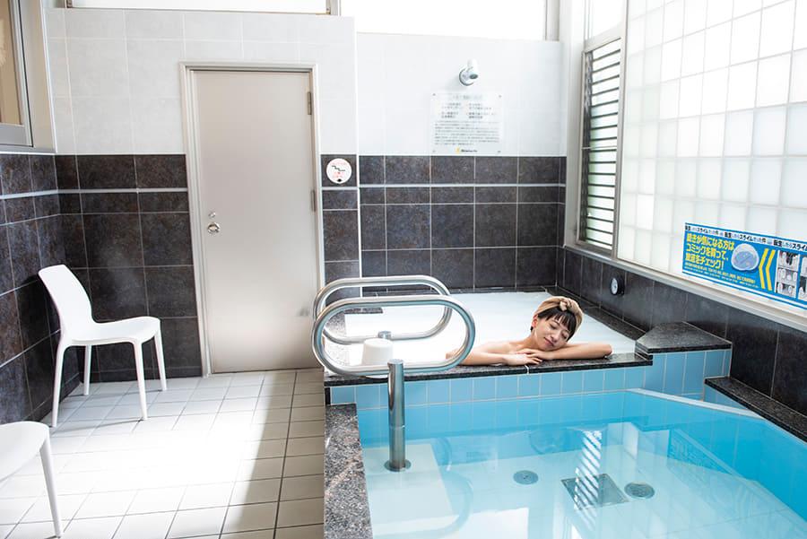 清水湯 高濃度炭酸泉とシルク風呂