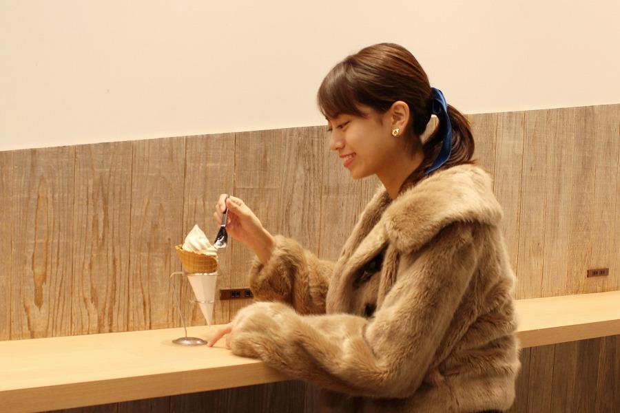 TP TEA 「タピオカミルクティーソフトクリーム」(594円)