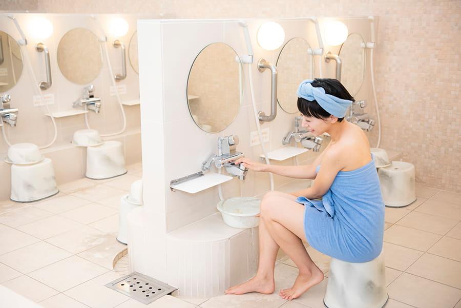 光明泉 シャワー
