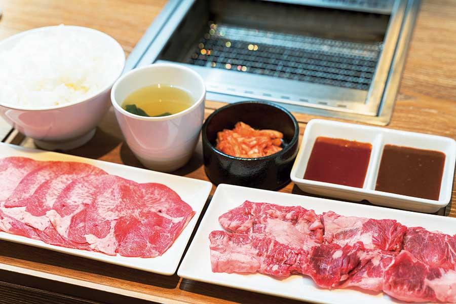 焼肉ライク 新宿西口店 「牛タン&カルビセット」1,580円