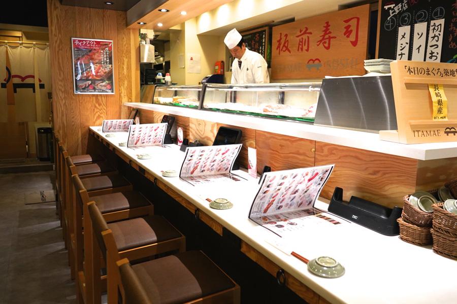 板前寿司 上野店店内