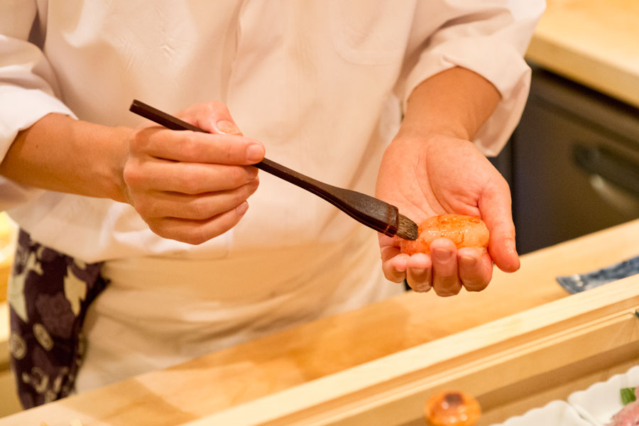 女一人寿司