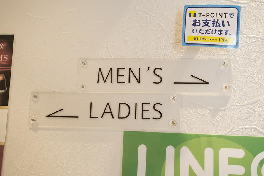 男性用スペースと女性用スペース