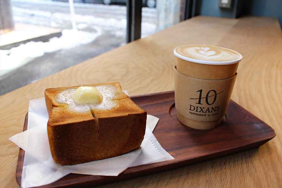 DIXANS 神保町ブラウンシュガートーストセット