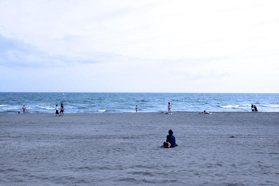 材木座海岸 海岸