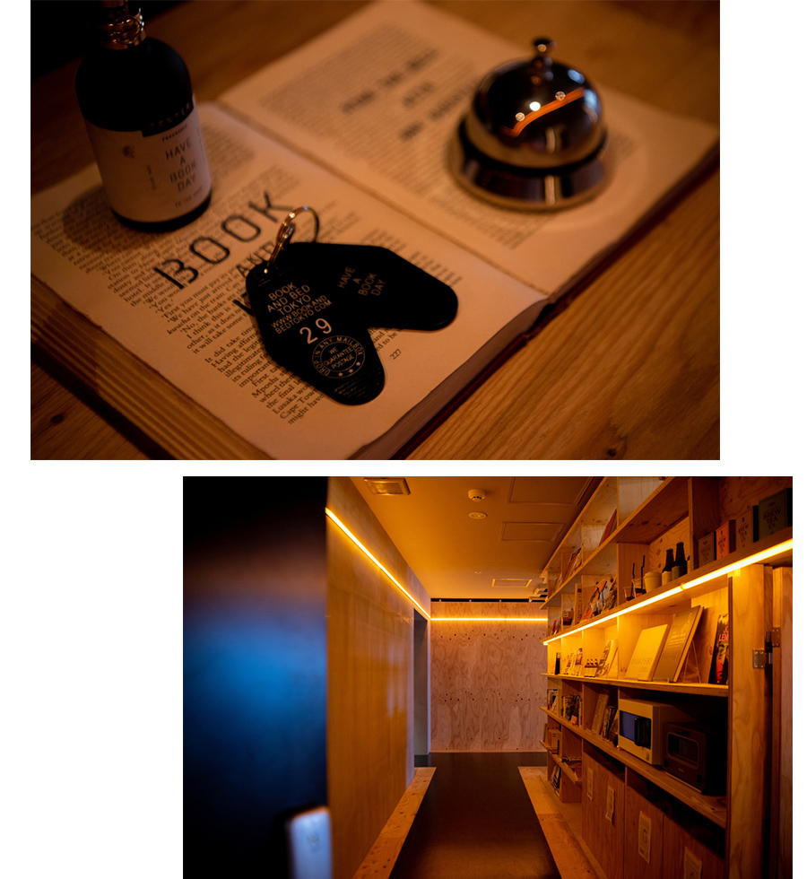 BOOK AND BED TOKYO 新宿店 廊下
