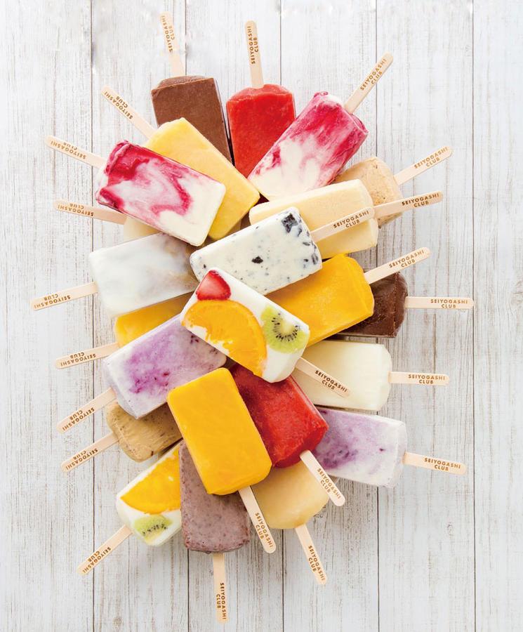 ▲夏場には地元のケーキ屋さんのパティシエが作ったフルーツたっぷりのアイスバーが登場