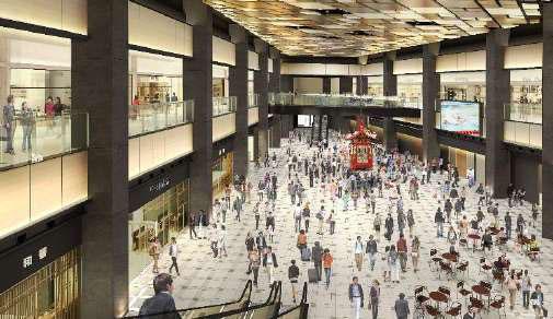 ▲2層吹き抜けの開放的なショッピングゾーン『羽田エアポートガーデン』 イメージ