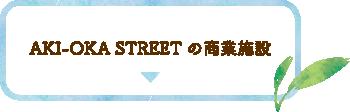 AKI-OKA STREETの商業施設